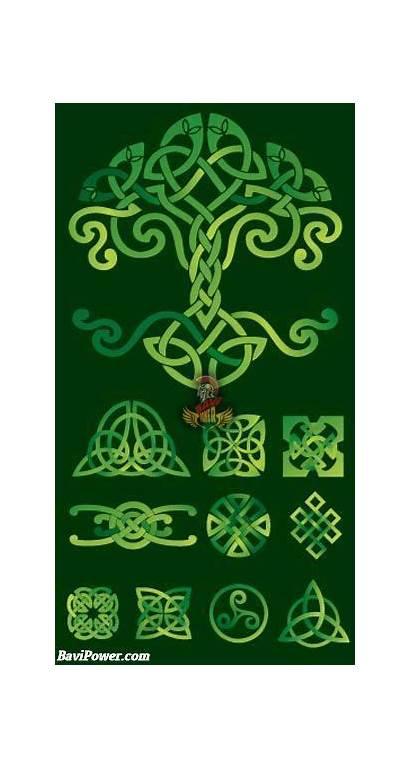 Celtic Knot Viking Tree Symbols Quilt Dragon