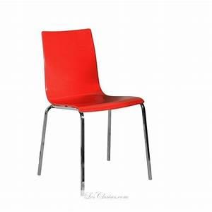 Chaise Rouge Design : chaise rouge gaby et chaises rouge plastique chaises noir blanche ~ Teatrodelosmanantiales.com Idées de Décoration
