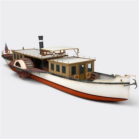 Steam Boat Model by Lwo Paddle Steamboat