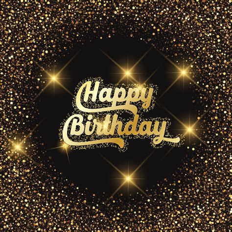 Happy Birthday Images For Happy Birthday Glitter Background Free Vector