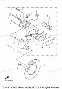 Yamaha Motorcycle 2004 Oem Parts Diagram For Rear Brake
