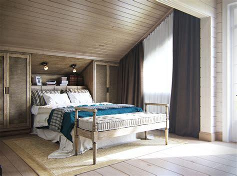 chambre avec lambris bois maison familiale russe au design intérieur néo