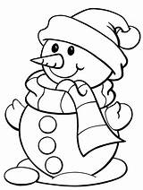 Coloring Winter Pages Snowman Printable sketch template