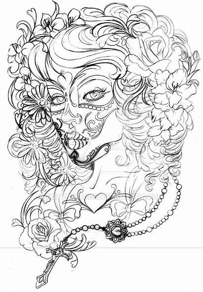 Dead Tattoo Deviantart Metacharis Coloring Pages Skull
