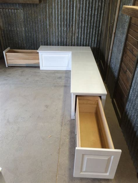 banquette corner bench seat  storage drawers