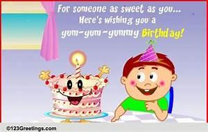 Yum-yummy Birthday! Free For Kids eCards, Greeting Cards ...