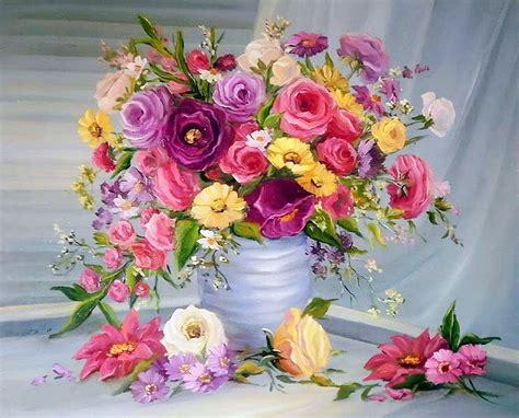 im 225 genes arte pinturas pintura al 211 leo flores modernas de anca bulgaru