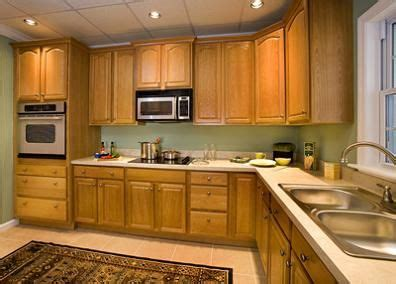 kitchen oak cabinets color ideas green walls paint colors and counter tops on 8360