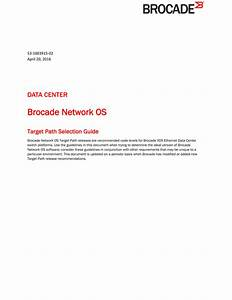 Brocade Network Os Target Path Selection Guide  July 2015