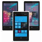 Windows Mobile Wireframe Concept Icons Phones Welcome