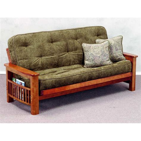 Wood Futon Frame by Landmark Wood Futon Frame Magazine Rack Cherry