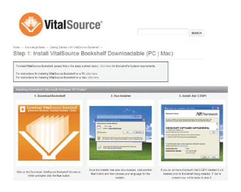 Virtualsource Bookshelf by Vitalsource