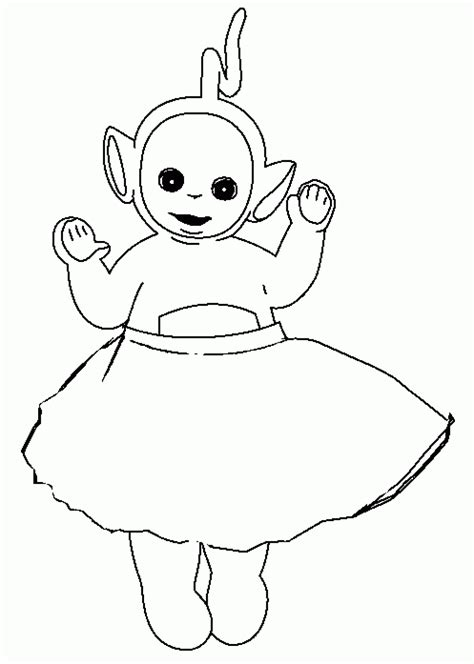 free printable teletubbies coloring pages for