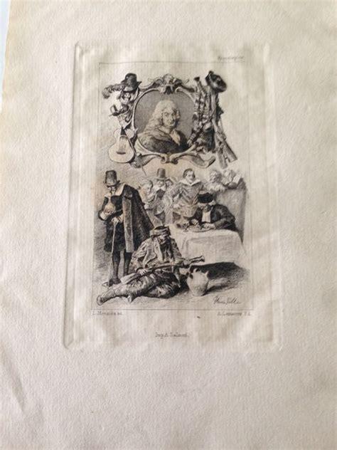 lustre a pille henri pille dessins louis monzi 232 s graveur eaux fortes pour illustrer gil blas 1878