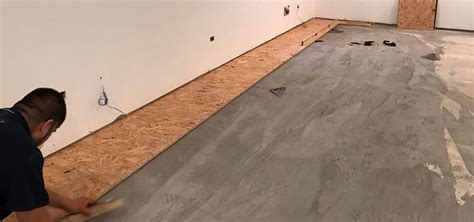 how to level a plywood floor for laminate subfloor for basement concrete floor describes how to level a concrete slab plywood or osb