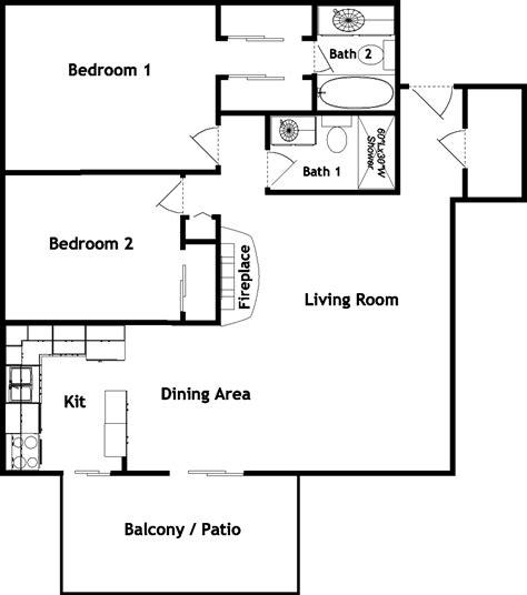 2 bedroom house floor plans 2 bedroom 2 bath apartment floor plans 2 bed 2 bath house
