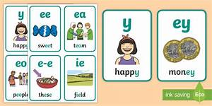 My Ee Sound Family Flashcards