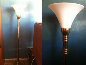 the clapper 1980s brass torchiere floor lamp casa With 1980s brass floor lamp