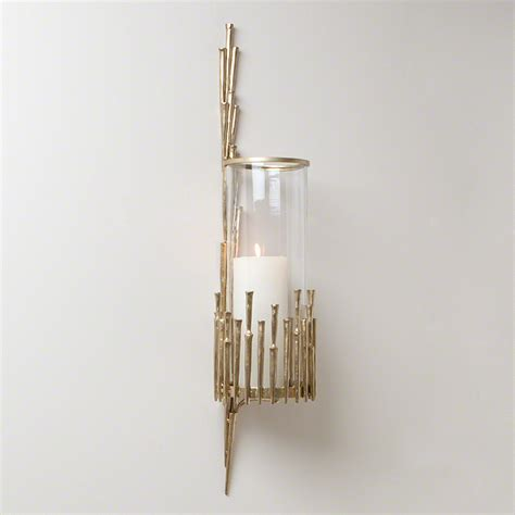 brass faux bamboo wall sconce mecox gardens