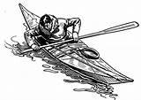 Kayak Drawing Coloring Kayaking Drawings Pencil Peralatan Asas Berkayak Edupics Robin Stained Glass sketch template