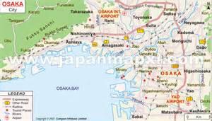 Osaka City Japan Map
