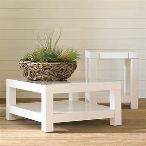 parsons coffee table polished white modern coffee With west elm white coffee table