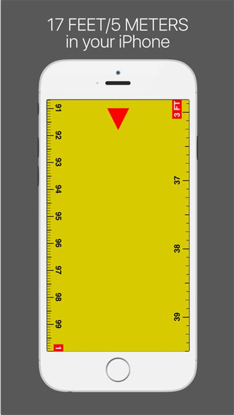 iphone measuring app ruler measure length 17ft on the app