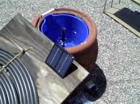 Solar Powered Water Fountain Simple Diy Feature