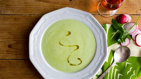 chilled corn soup  basil recipe nyt cooking