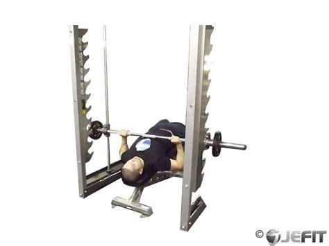 smith machine bench press smith machine decline bench press exercise database