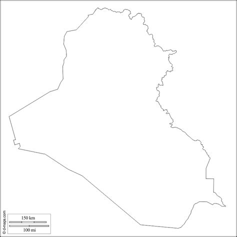 Iraq Map Outline