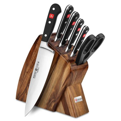 knife block kitchen wusthof piece knives classic slim sets acacia rated cutlery cherry quality amazon gift gifts bamboo unique christmas