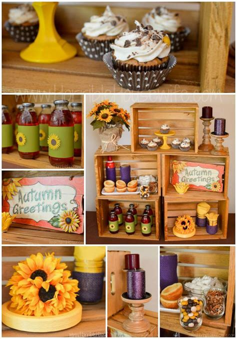 Fall Themed Sunflower Party With Pecan Pie Cupcakes