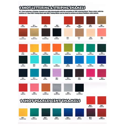 color chart one colour chart