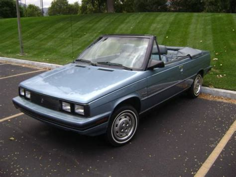 1985 renault alliance convertible nicest one left 1985 renault alliance convertible bring