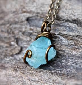Natural Aquamarine Stone Jewelry