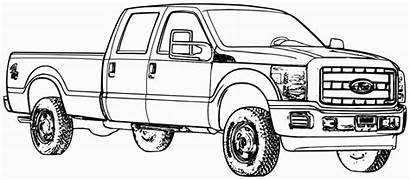 Coloring Pages Ford Truck Trucks Printable Cars