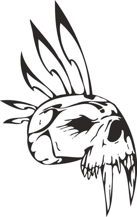 epic tribal skull vector  vector cdr  axisco
