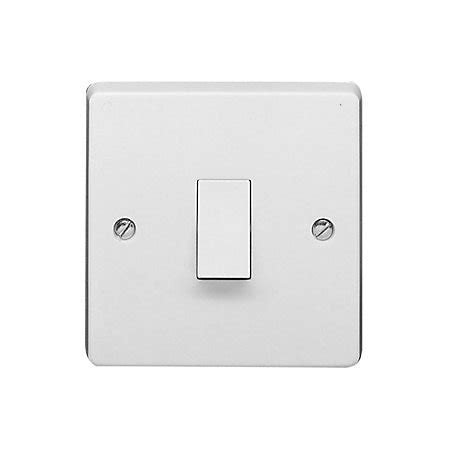 crabtree 10a 1 way single white light switch departments