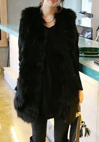 fellweste damen schwarz schwarz 196 rmellos faux pelzmantel jacke kurz fellweste damen winter jacke oberteile
