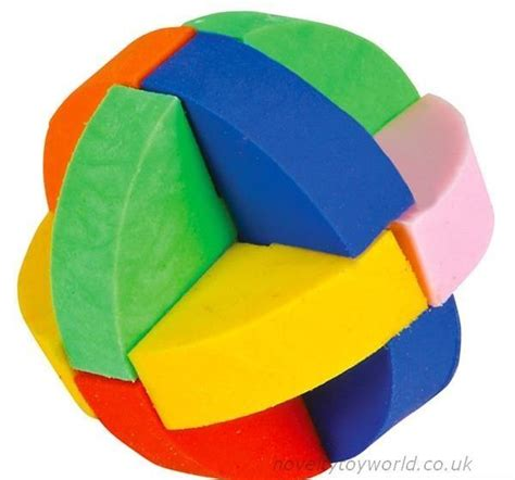 bulk buy novelty puzzle ball eraser rubber cm