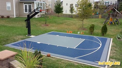 backyard basketball court youtube