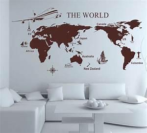 Carte Du Monde Sticker : sticker carte du monde id es chambre petit gar on pinterest carte du monde le monde et ~ Dode.kayakingforconservation.com Idées de Décoration
