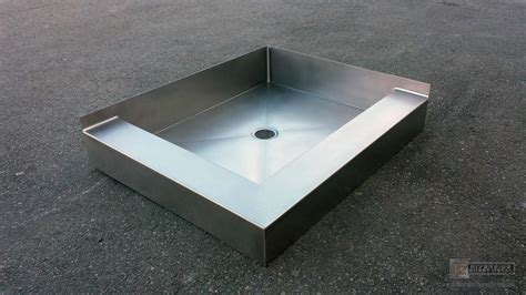 Stainless steel shower floor base (shower pan)