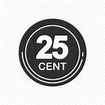 Icon Cents Twenty Five Coin Money Cent