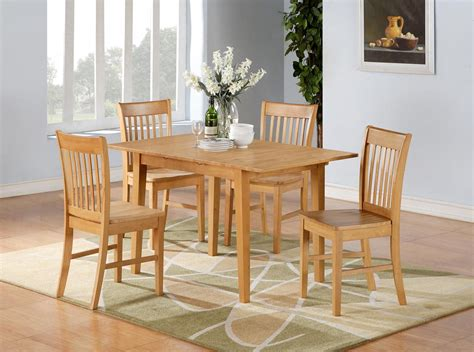 pc norfolk rectangular dinette kitchen dining table   wood seat chair oak ebay