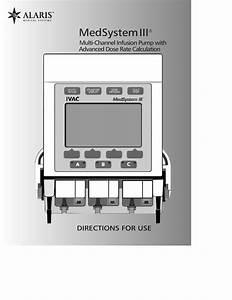 Alaris Medsystem Iii 2860 2863 User Manual