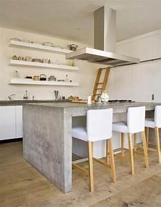 Beton Pour Plan De Travail : id e relooking cuisine plan de travail b ton cir hotte ~ Premium-room.com Idées de Décoration