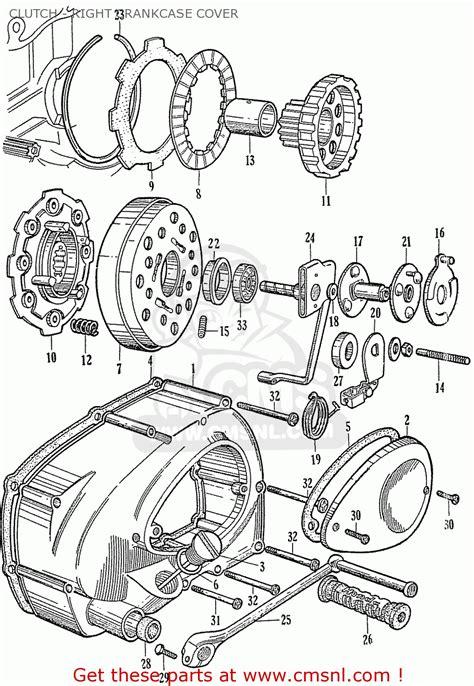 honda  clutch  crankcase cover schematic