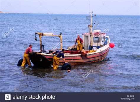 Fishing Boat North Sea by Filey Cobble Fishing Boat Yorkshire Vessel North Sea